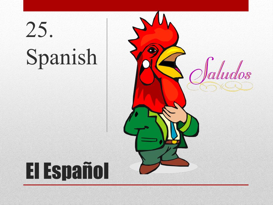 El Español 25. Spanish