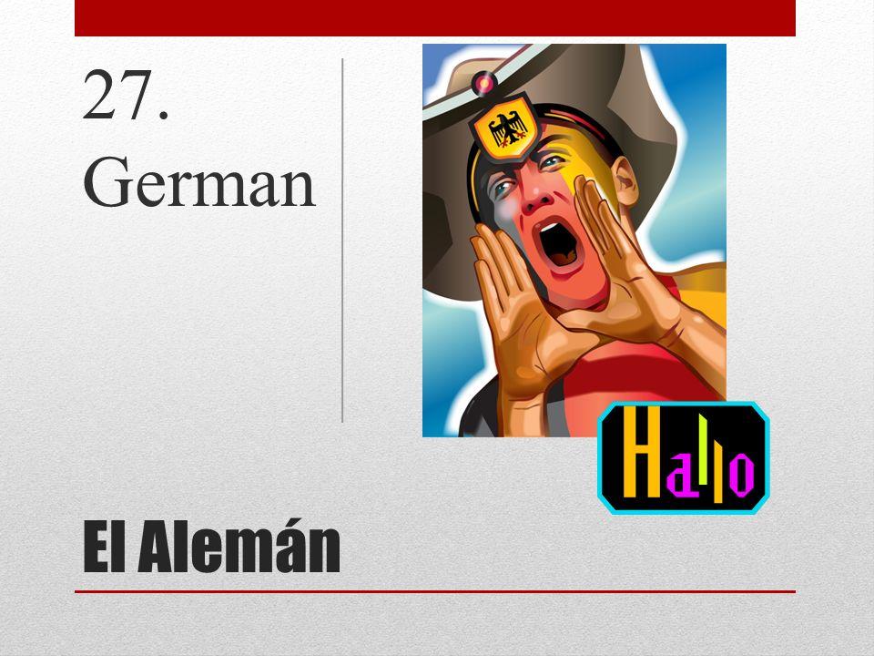 El Alemán 27. German