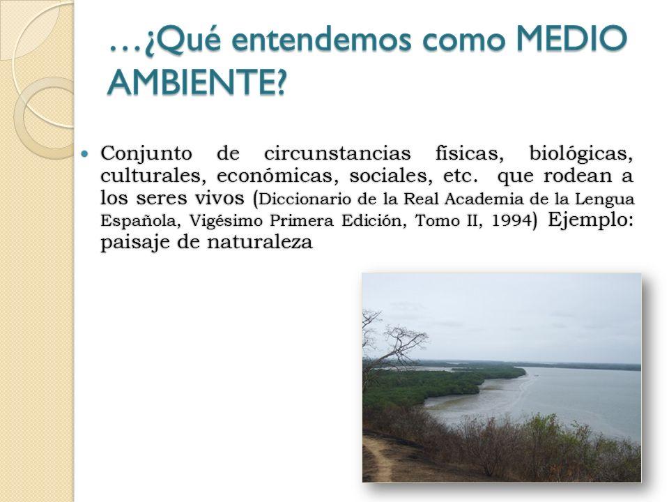 Conjunto de circunstancias físicas, biológicas, culturales, económicas, sociales, etc.