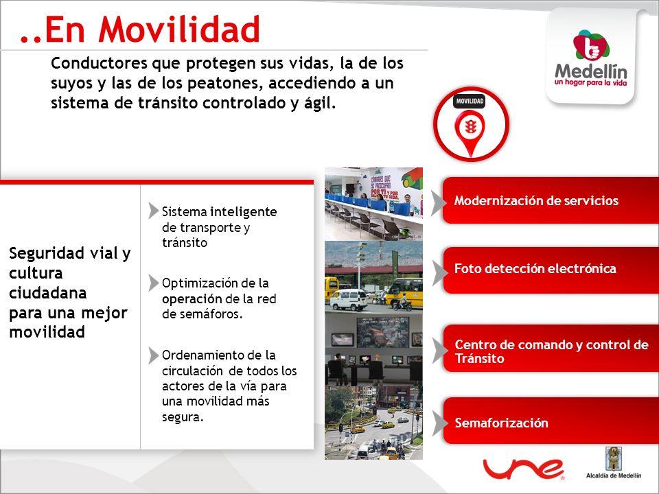 Sistema inteligente de transporte y tránsito Seguridad vial y cultura ciudadana para una mejor movilidad Educación para todos y para todas con ambient
