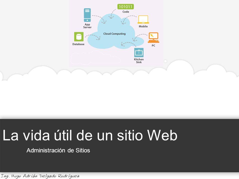 La vida útil de un sitio Web Administración de Sitios