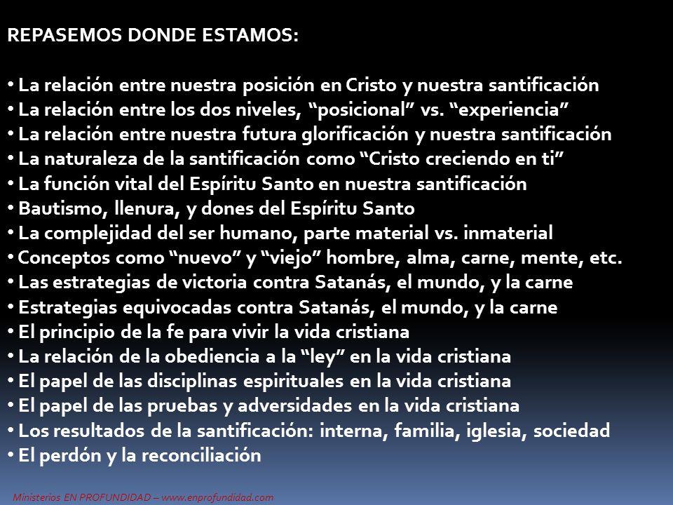 Ministerios EN PROFUNDIDAD – www.enprofundidad.com ESTRATEGIAS CONTRA NUESTROS 3 ENEMIGOS: SATANASMUNDOCARNE Correctas Equivocadas Correctas Equivocadas Correctas Equivocadas