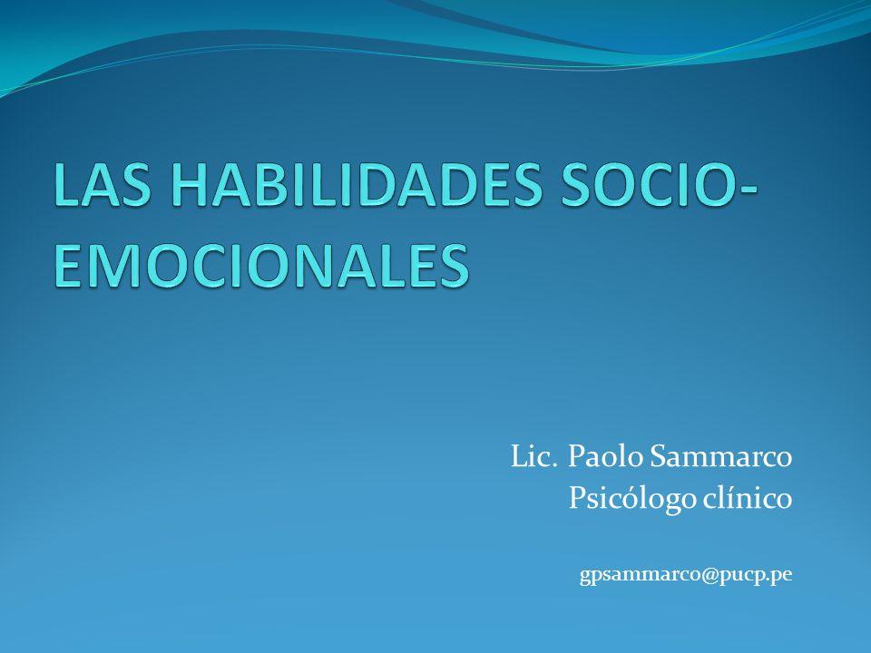 Lic. Paolo Sammarco Psicólogo clínico gpsammarco@pucp.pe