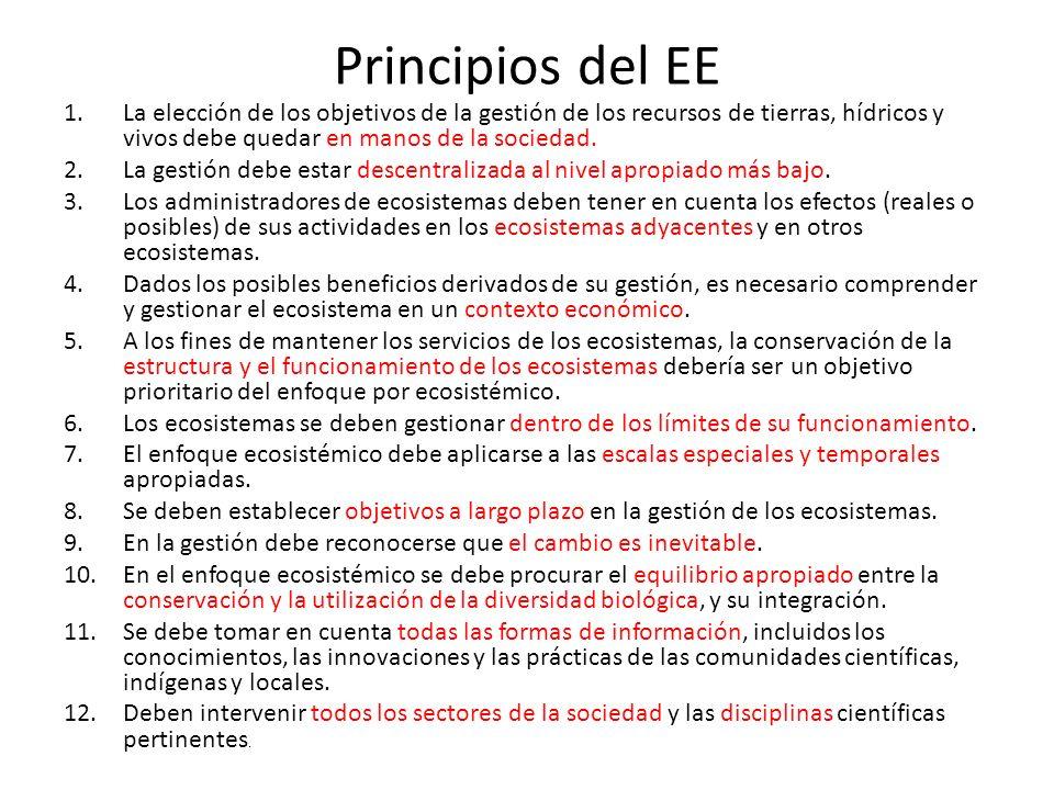 Desajustes - barreras - retos 1.Aproximación disciplinaria: el «objeto» de la gestión 2.Escala espacial 3.Escala temporal 4.Apropiación social y gobernanza 5.Bienestar humano 6.Cambio ambiental global