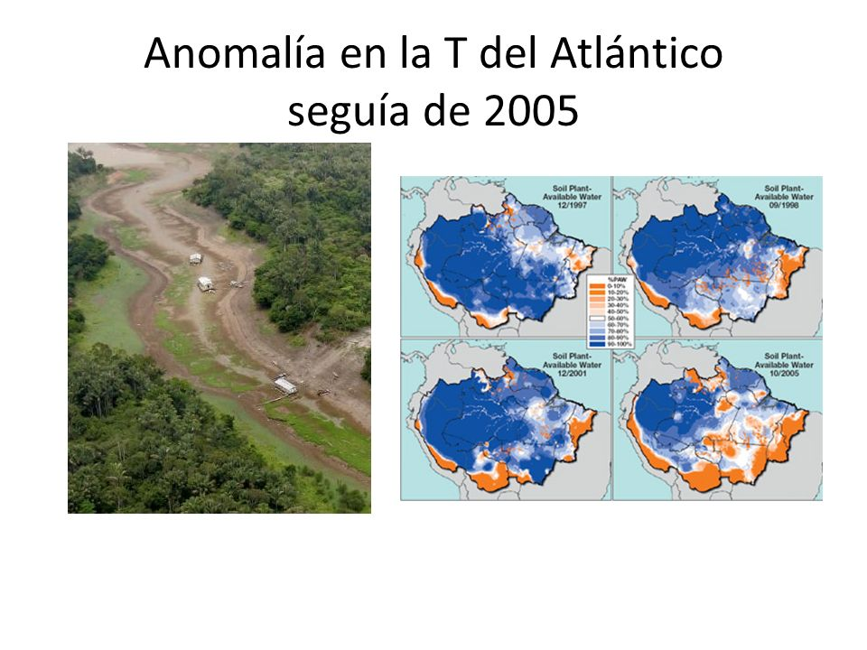 Anomalía en la T del Atlántico seguía de 2005