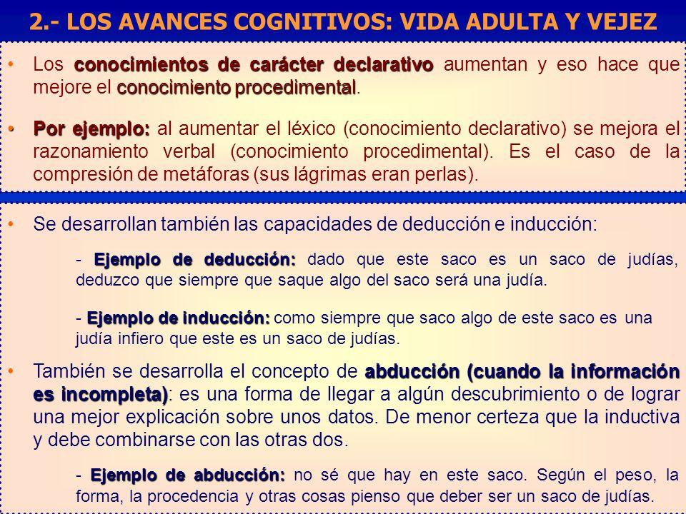 conocimientos de carácter declarativo conocimiento procedimentalLos conocimientos de carácter declarativo aumentan y eso hace que mejore el conocimiento procedimental.