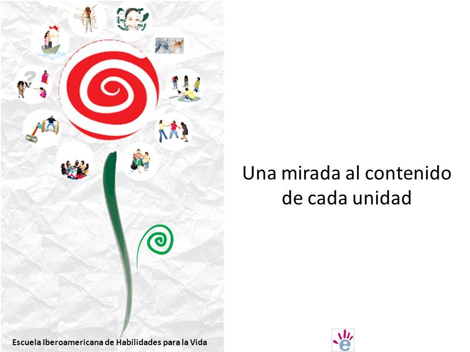 Una mirada al contenido de cada unidad Escuela Iberoamericana de Habilidades para la Vida