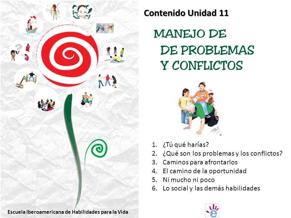 Contenido Unidad 11 1.¿Tú qué harías.2.¿Qué son los problemas y los conflictos.
