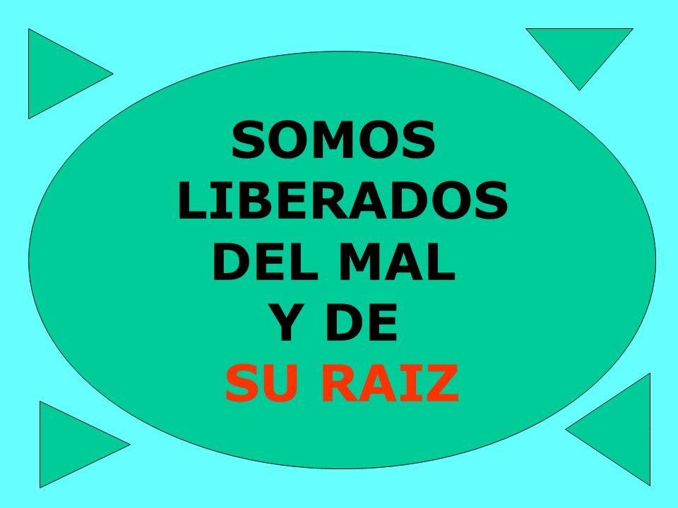SOMOS LIBERADOS DEL MAL Y DE SU RAIZ