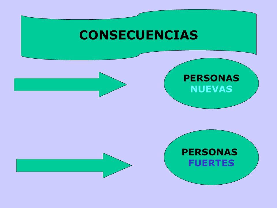 PERSONAS NUEVAS PERSONAS FUERTES CONSECUENCIAS