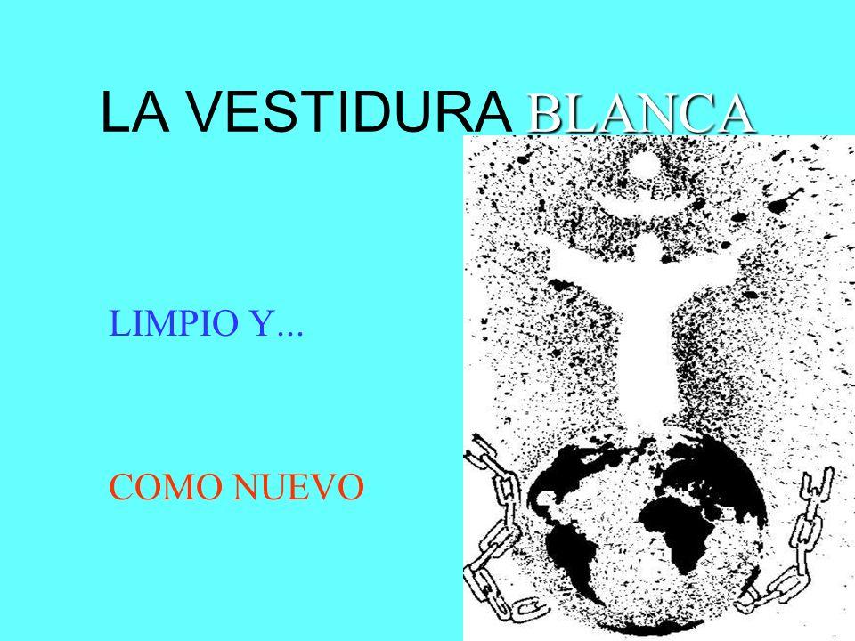 BLANCA LA VESTIDURA BLANCA LIMPIO Y... COMO NUEVO
