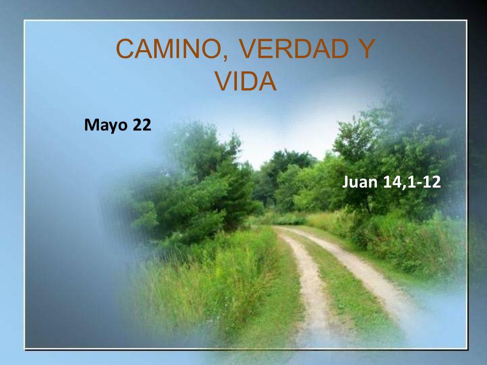 Mayo 22 Juan 14,1-12 CAMINO, VERDAD Y VIDA