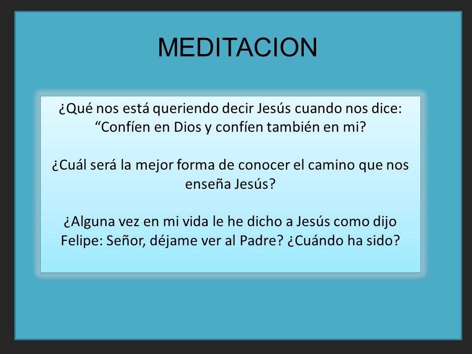 ¿Qué nos está queriendo decir Jesús cuando nos dice: Confíen en Dios y confíen también en mi.
