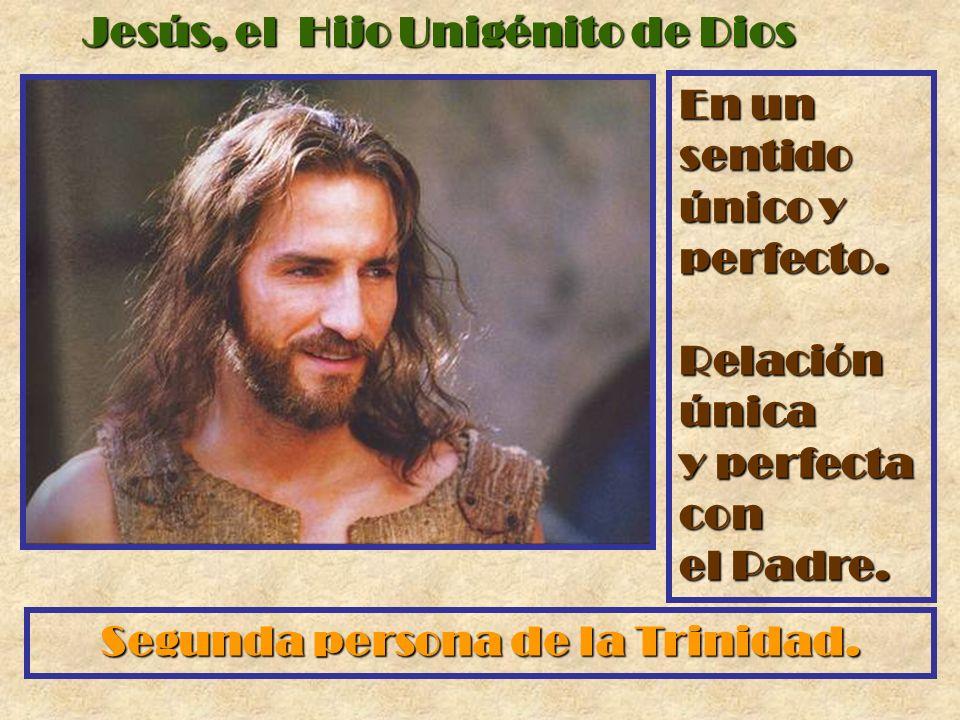 Jesús, el Hijo Unigénito de Dios En un sentido único y perfecto. Relación única y perfecta con el Padre. Segunda persona de la Trinidad.