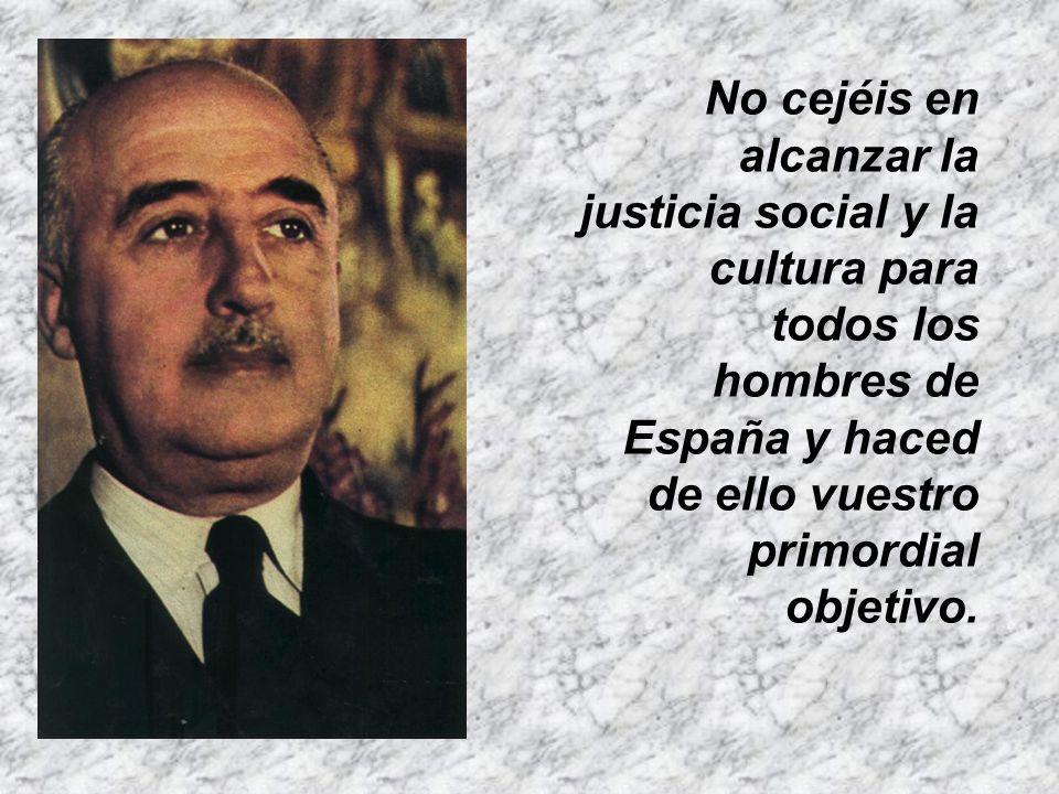 No olvidéis que los enemigos de España y de la civilización cristiana están alerta. Velad también vosotros y para ello deponed frente a los supremos i