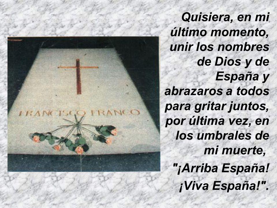 Mantened la unidad de las tierras de España, exaltando la rica multiplicidad de sus regiones como fuente de la fortaleza de la unidad de la patria.