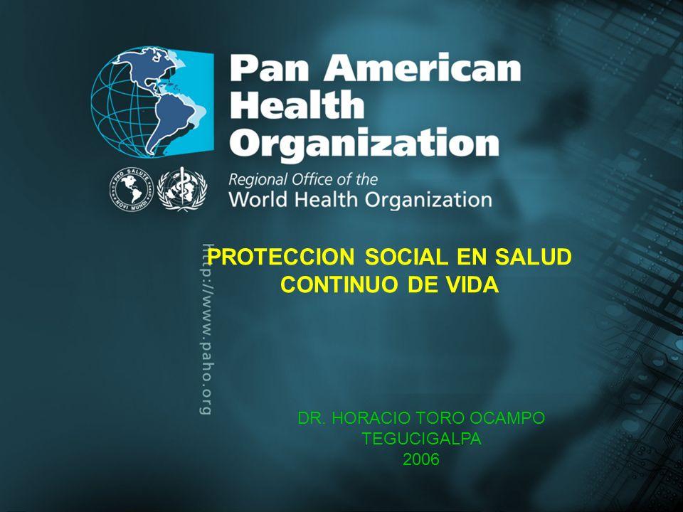 .`. PROTECCION SOCIAL EN SALUD CONTINUO DE VIDA DR. HORACIO TORO OCAMPO TEGUCIGALPA 2006