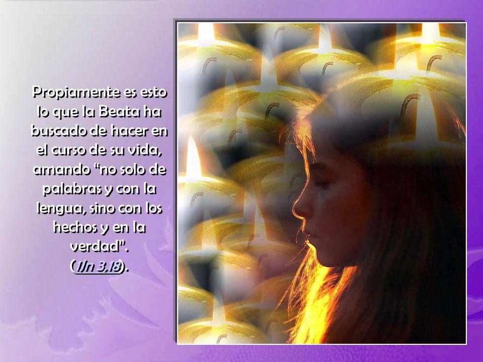La Beata Magdalena Morano, junto con toda la gran multitud de los Santos del Cielo, vive ahora entre las consolaciones que Dios reserva a sus fieles,
