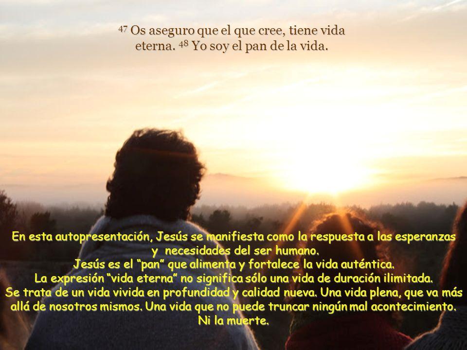43 Jesús replicó: –No sigáis murmurando. 44 Nadie puede aceptarme, si el Padre, que me envió, no se lo concede; y yo lo resucitaré el último día. 45 E