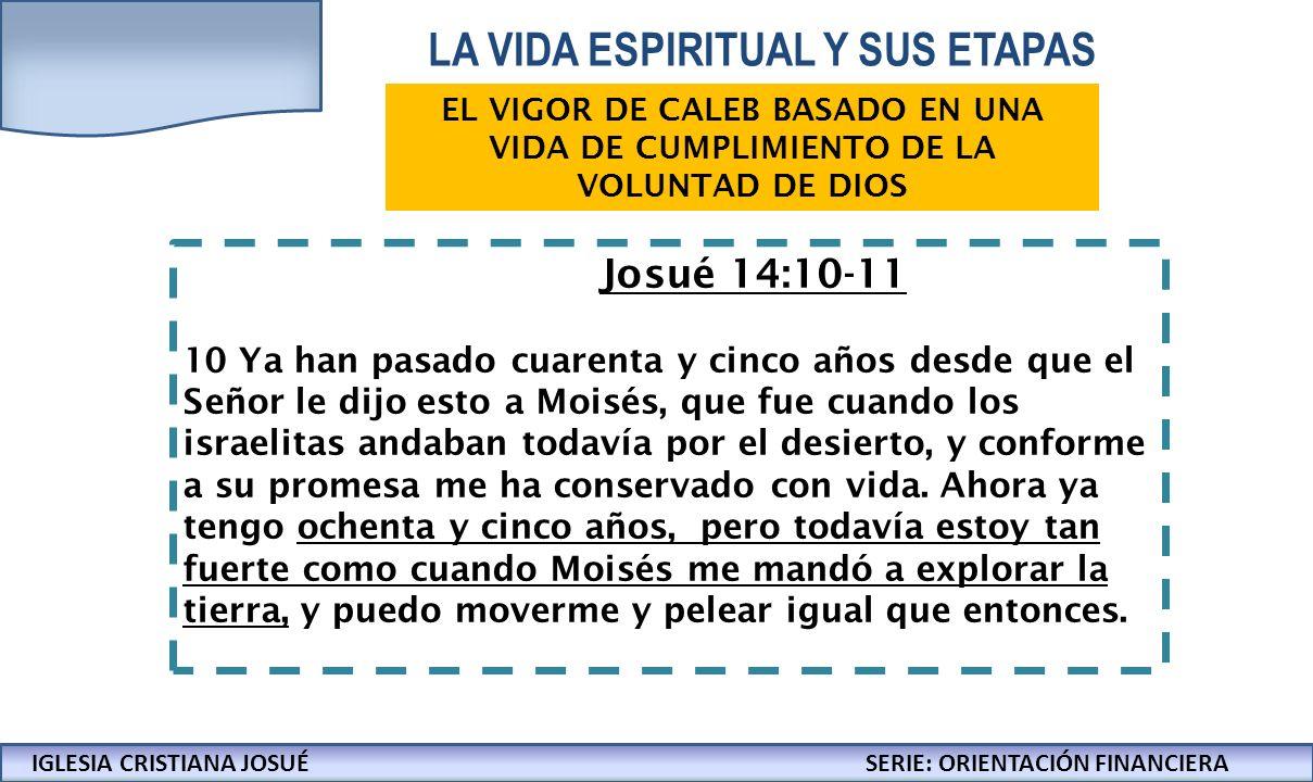 IGLESIA CRISTIANA JOSUECONFERENCIAS: LA BIBLIA Y LOS NEGOCIOS Josué 14:10-11 10 Ya han pasado cuarenta y cinco años desde que el Señor le dijo esto a