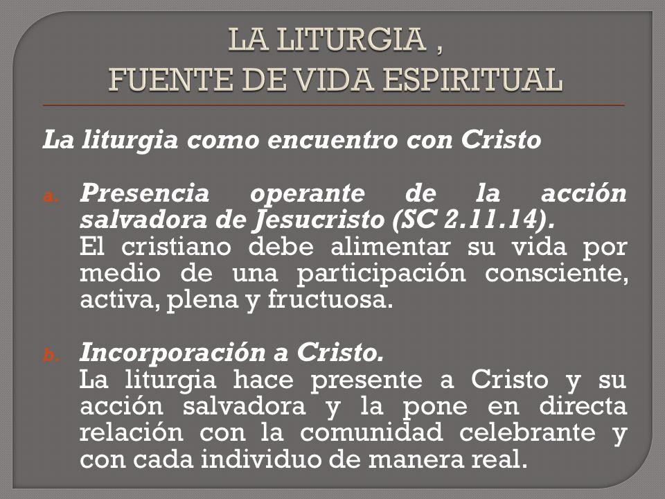 La liturgia como encuentro con Cristo a.