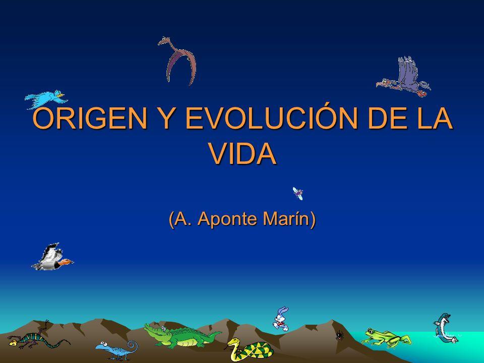 ORIGEN Y EVOLUCIÓN DE LA VIDA (A. Aponte Marín)