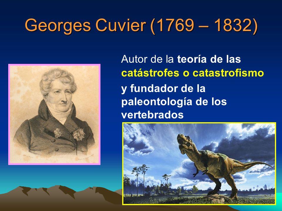Georges Cuvier (1769 – 1832) Autor de la teoría de las catástrofes o catastrofismo y fundador de la paleontología de los vertebrados