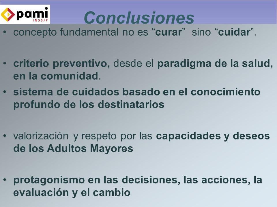 Conclusiones concepto fundamental no es curar sino cuidar.