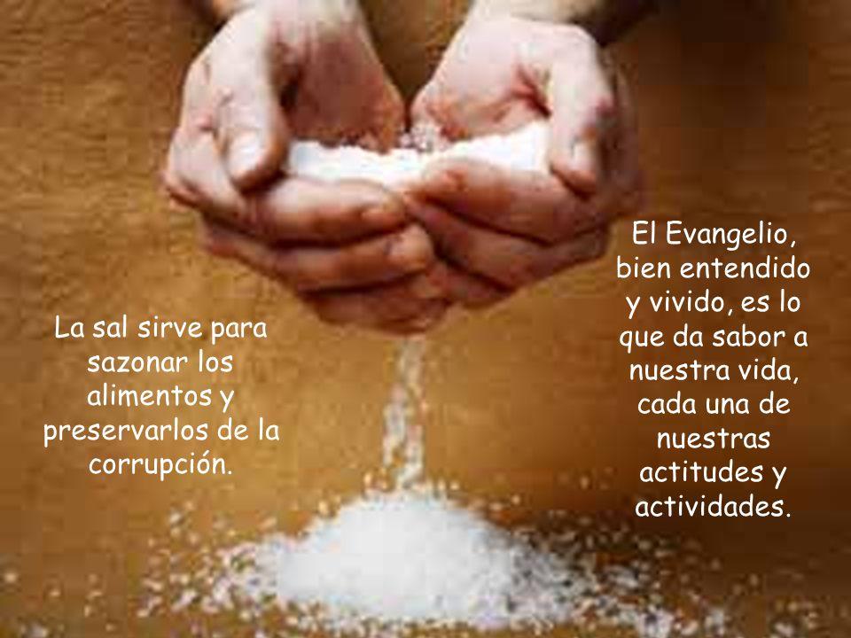 La sal sirve para sazonar los alimentos y preservarlos de la corrupción.