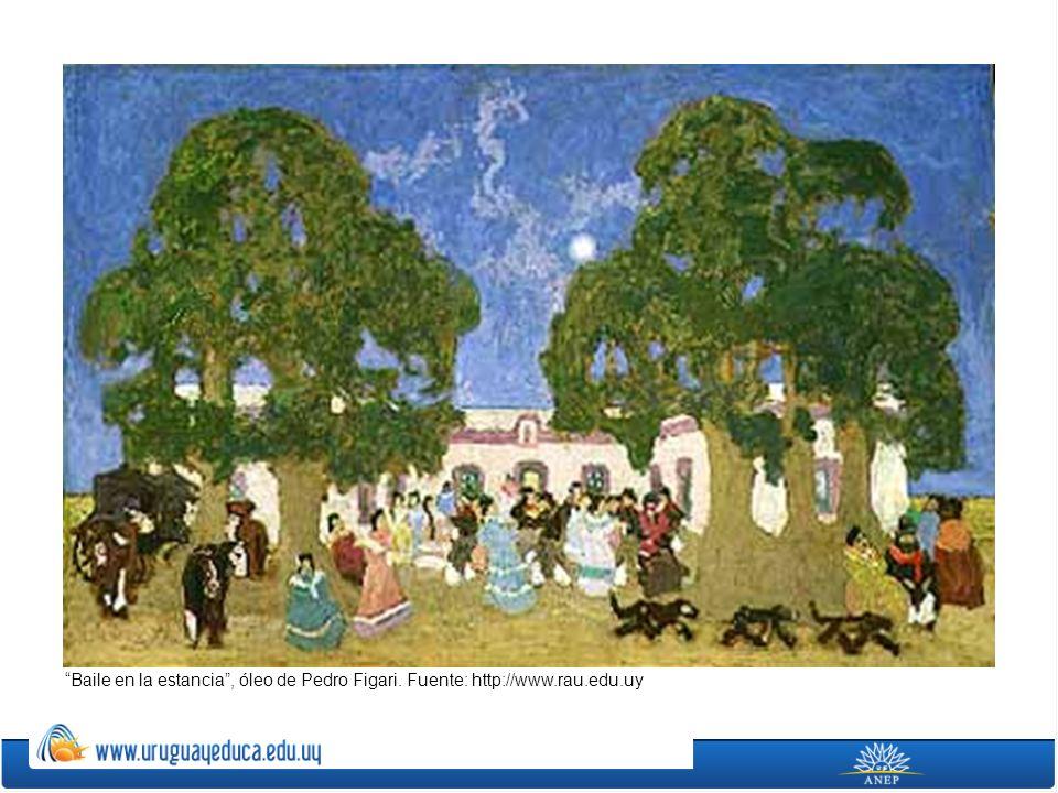Baile en la estancia, óleo de Pedro Figari. Fuente: http://www.rau.edu.uy