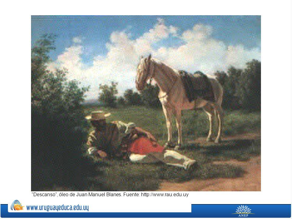 Descanso, óleo de Juan Manuel Blanes. Fuente: http://www.rau.edu.uy