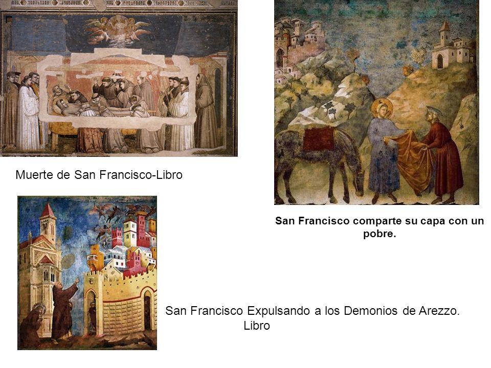 Muerte de San Francisco-Libro San Francisco Expulsando a los Demonios de Arezzo.