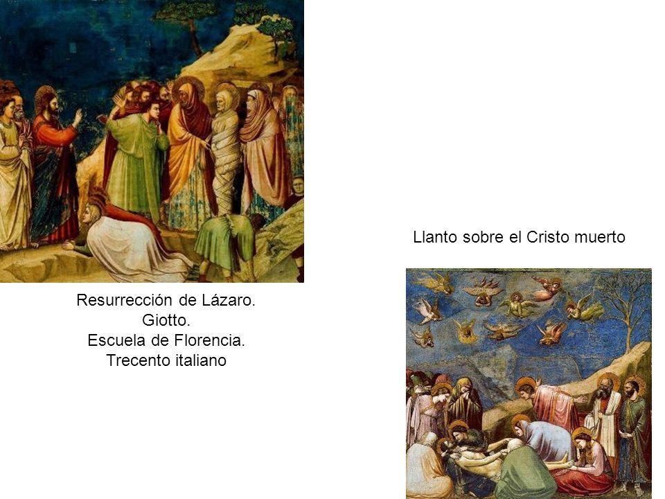 Resurrección de Lázaro.Giotto. Escuela de Florencia.