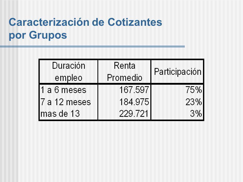 Caracterización de Cotizantes por Grupos