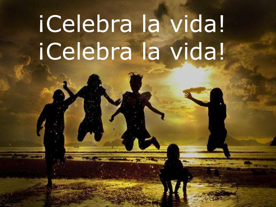 ¡Celebra la vida! ¡Celebra la vida! Qué es mucho más bella cuando Tú me miras