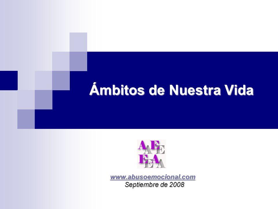Ámbitos de Nuestra Vida www.abusoemocional.com www.abusoemocional.comwww.abusoemocional.com Septiembre de 2008 Septiembre de 2008