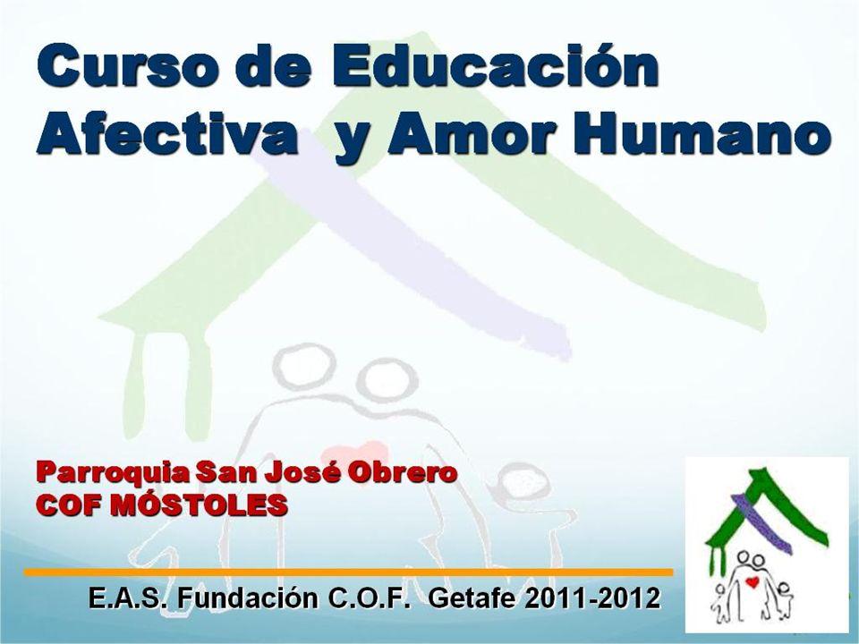 22 EAS Fundación COF Getafe 2011-2012 La sexualidad me permite transmitir la vida María y José