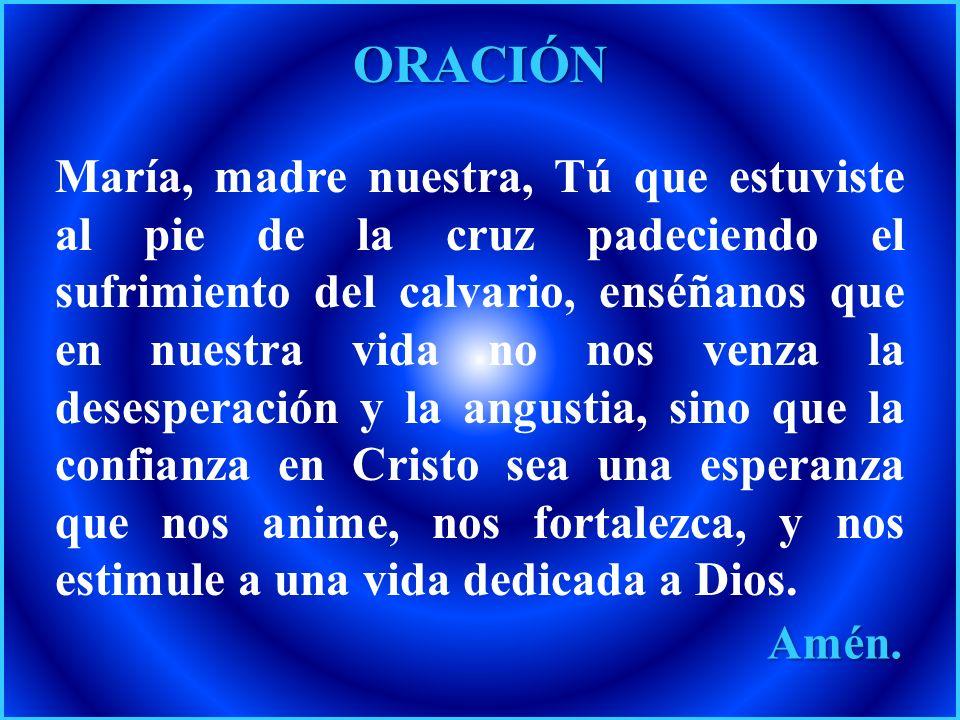 PETICIÓN A la Virgen María, que acogió con amor perfecto al Verbo de la vida, Jesucristo, le encomendamos a las mujeres embarazadas, a las familias y
