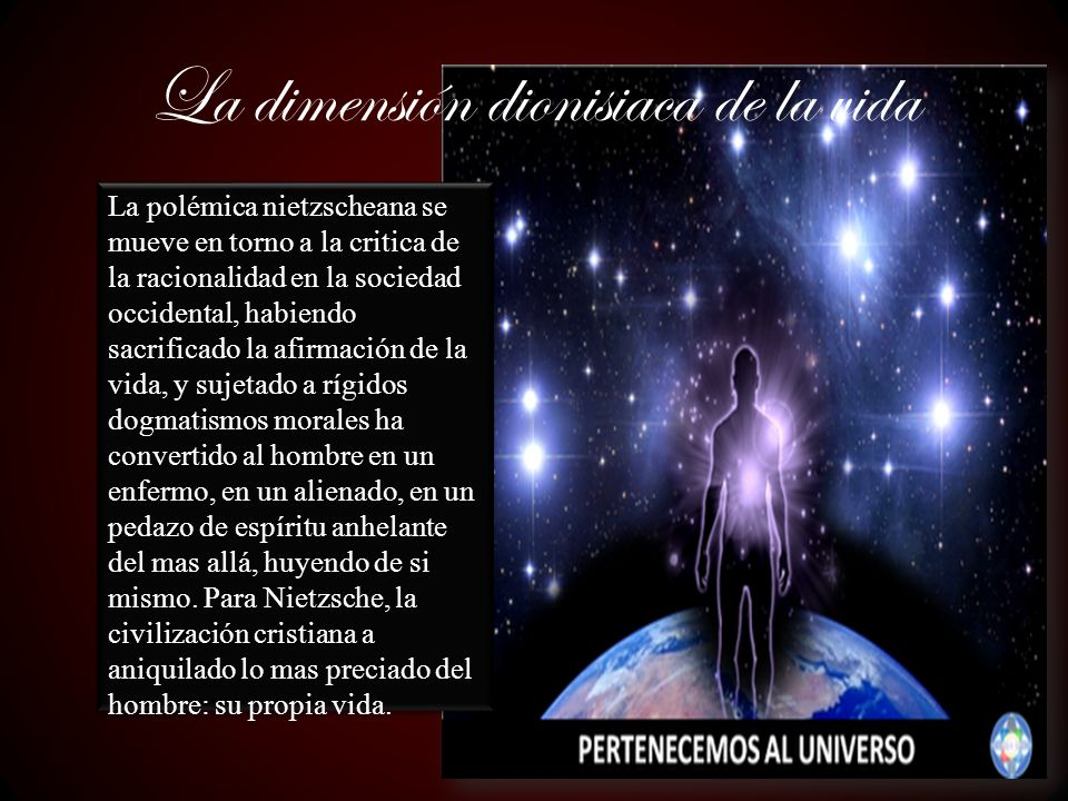 La doctrina del eterno retorno, implica la responsabilidad del hombre de construir la vida de modo que eternamente quiera volver a repetirla, que conceda por ello cada instante del mismo valor.