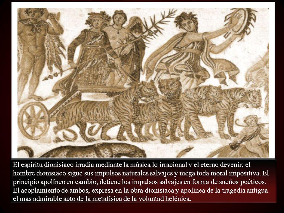 A partir de Sócrates y Eurípides se rompe la armonía dionisiaca.