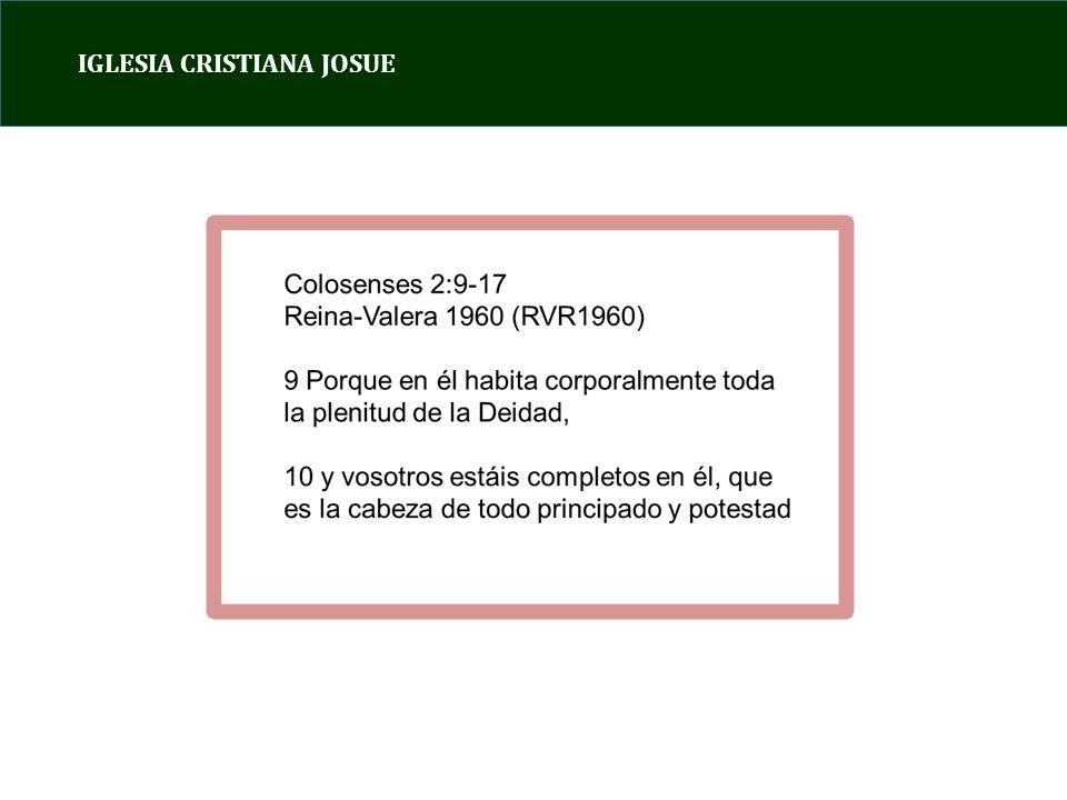 IGLESIA CRISTIANA JOSUE