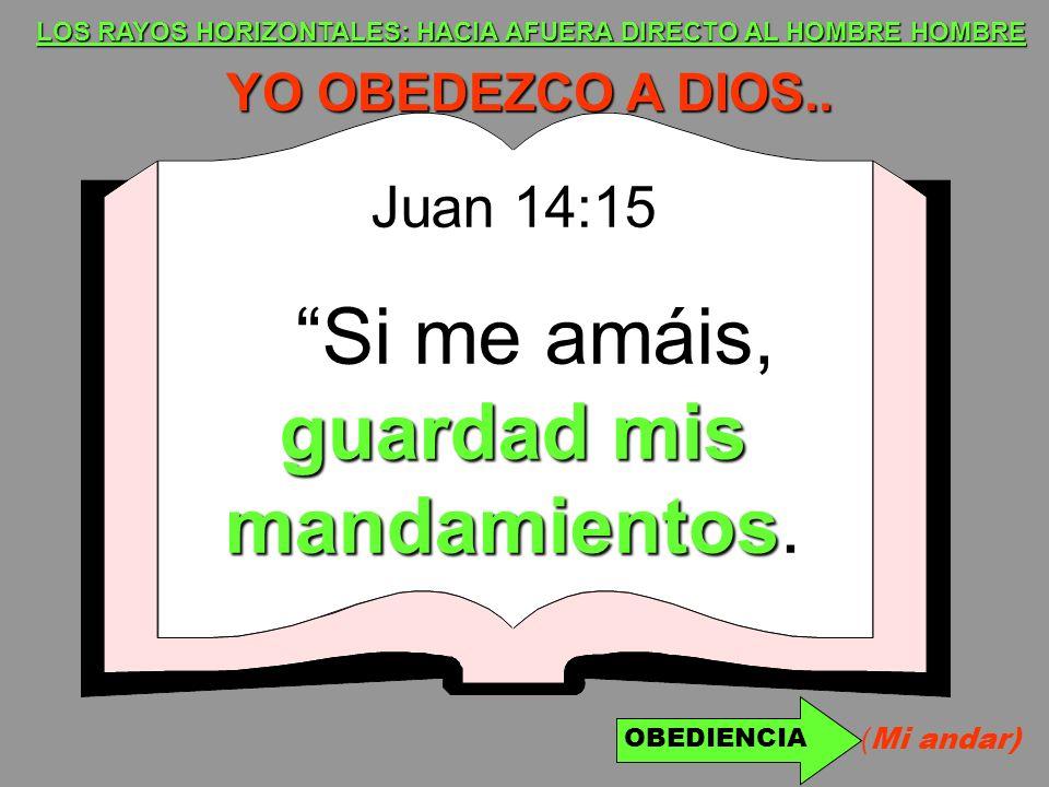 LOS RAYOS HORIZONTALES: HACIA AFUERA DIRECTO AL HOMBRE HOMBRE YO OBEDEZCO A DIOS.. Juan 14:15 guardad mis mandamientos Si me amáis, guardad mis mandam