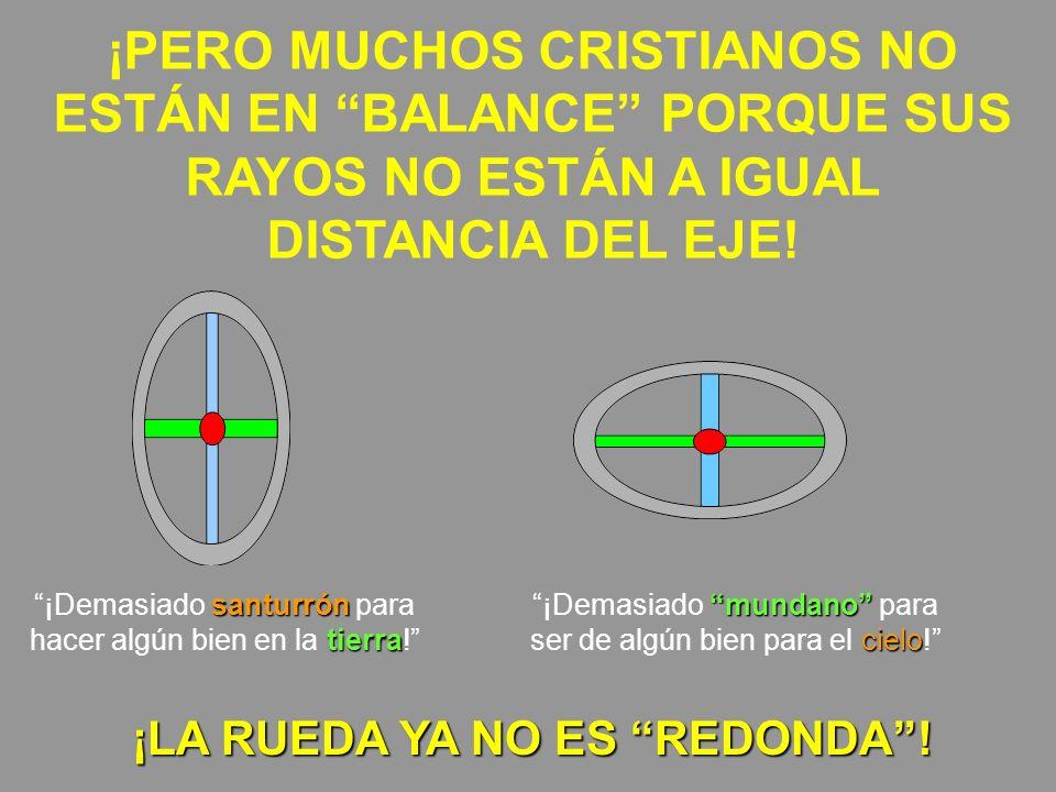 ¡PERO MUCHOS CRISTIANOS NO ESTÁN EN BALANCE PORQUE SUS RAYOS NO ESTÁN A IGUAL DISTANCIA DEL EJE! santurrón tierra ¡Demasiado santurrón para hacer algú