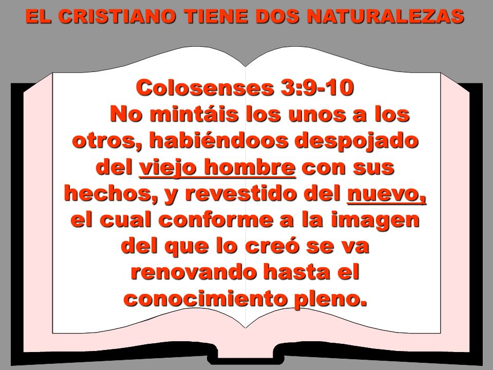 Colosenses 3:9-10 No mintáis los unos a los otros, habiéndoos despojado del viejo hombre con sus hechos, y revestido del nuevo, el cual conforme a la