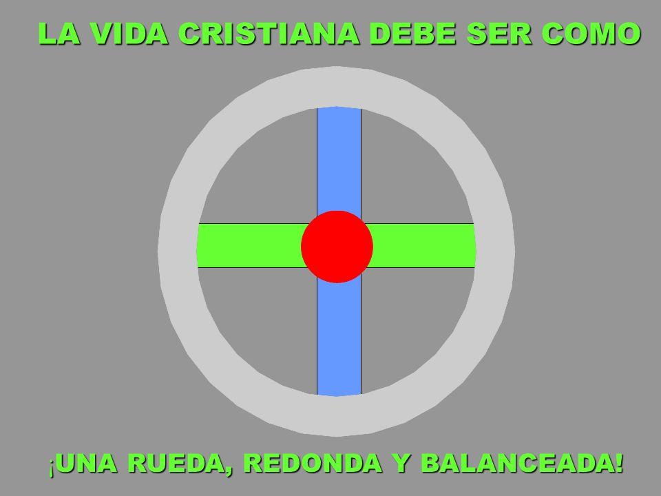 LA VIDA CRISTIANA DEBE SER COMO ¡ UNA RUEDA, REDONDA Y BALANCEADA!