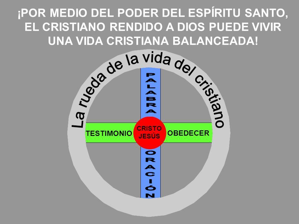 CRISTO JESÚS TESTIMONIO OBEDECER ¡POR MEDIO DEL PODER DEL ESPÍRITU SANTO, EL CRISTIANO RENDIDO A DIOS PUEDE VIVIR UNA VIDA CRISTIANA BALANCEADA!