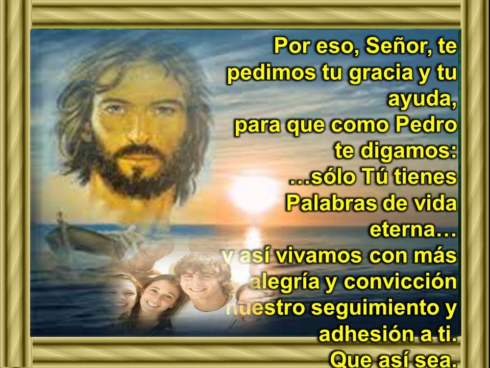 Señor, llegamos a ti, con toda confianza, pidiéndote la gracia de entender tu Palabra, de conocer la voluntad de tu Padre, para que siguiéndote, encontremos la vida que Tú nos das.