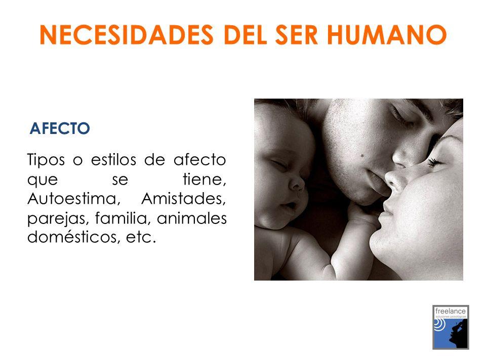 AFECTO Tipos o estilos de afecto que se tiene, Autoestima, Amistades, parejas, familia, animales domésticos, etc.