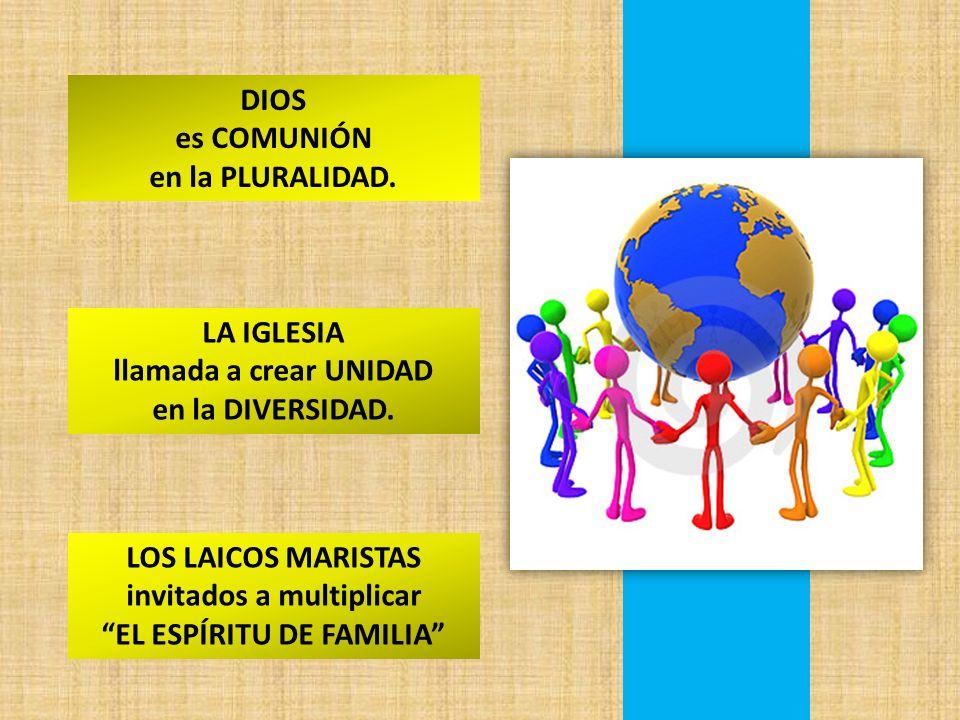 DIOS es COMUNIÓN en la PLURALIDAD.LA IGLESIA llamada a crear UNIDAD en la DIVERSIDAD.