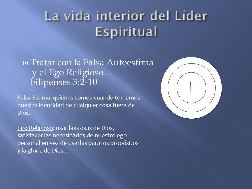 Tratar con la Falsa Autoestima y el Ego Religioso… Filipenses 3:2-10 Falsa Estima: quiénes somos cuando tomamos nuestra identidad de cualquier cosa fu